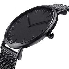 Simple Womens Men Stainless Steel Watch Analog Quartz Bracelet Wrist Watches