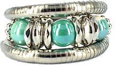 Chunky Ball Twist Bracelet - Light Green & Cream  - OZ Seller