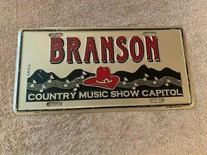 RARE Branson Missouri License Plate Tag Metal Country Music Show Capital