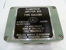 WALSALL FLAMEPROOF JUNCTION BOX TYPE 15AL50BX EX dIIBT6 (BRAND NEW IN BOX)