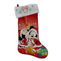 Mickey & Minnie 90 Years Christmas Stocking Santa Costume Disney Holiday New