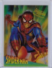 1995 Fleer Ultra Spider-Man Clear Chrome Insert card #9 of 10 Spider-Man