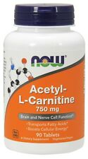 NOW® Acetyl-L Carnitine, 750 mg, 90 Tablets