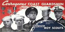 US Coastguard Navy Boy Scouts Medals World War 2 Poster 12x6 Inch Reprint