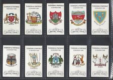 THOMSON & PORTEOUS - ARMS OF BRITISH TOWNS - FULL SET OF 50 CARDS