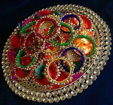 Set Of 5* Ghungru Bridal Mix Bangels Mehndi Gana Kalira-Indian Wedding Accessory