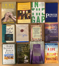 Lot of 24 Christian Prayer Bible STUDY Jesus Christ Stories Religion Book Mix B3