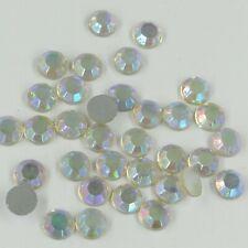 130 *** Lot de 12 strass anciens SS34 (7,10mm) couleur TITANIA (irisé)
