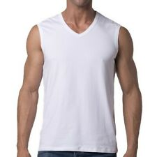 Men's - 100% Cotton - Sleeveless - Big & Tall - V-Neck - Muscle Shirt - 4XL