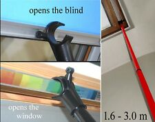 Pole for roof windows -Velux / Keylite - AND blinds : extends to 3m