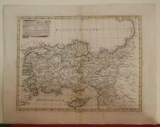 TURKEY & CYPRUS 1785 ANTONIO ZATTA ANTIQUE ORIGINAL COPPER ENGRAVED MAP