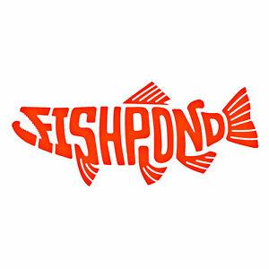Fishpond Fly Fishing Thermal Die Cut Vinyl Pescado Sticker - All Sizes