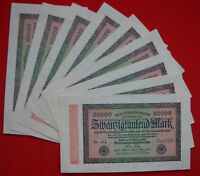 1923 Germany 20000 Mark Banknote-Price Per Banknote-UNC Condition- 18-197