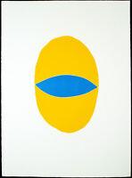 Untitled 1988. Grosser Linoldruck Norbert PRANGENBERG (1949-2012 D) handsigniert