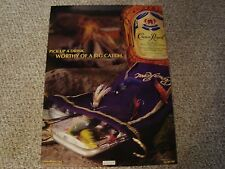 """Crown Royal Advertisement 17"""" x 23"""" poster lure bottle bag fishing bar picture"""