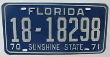 1970 1971 Florida car license plate NEW NOS
