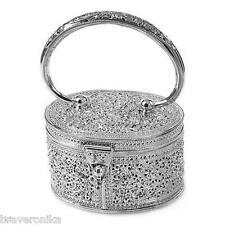 Filligree Flower Engrave Purse Handmade 925 Sterling Silver $2.849 USD. New