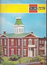 HELJAN HO & N GAUGE MODEL RAILWAY BUILDINGS & ACCESSORIES 1977-1978 CATALOGUE
