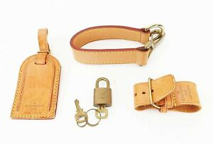 Auth LOUIS VUITTON Accessory Set for Keepall or Pegase Suitcase #39857