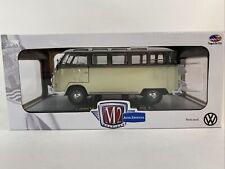 M2 1/24 VW Microbus Deluxe USA Model S05 Grey & Creme. 1960's Volkswagen Van.