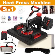 15x15 5 In 1 Heat Press Machine Printer Transfer Sublimation T Shirt Mug Hat