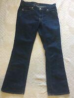 Old Navy women's size 8 Short Flirt Jeans denim blue dark wash