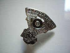 Harley Davidson Motorcycle Blockhead Engine Pin Factory HD Evolution Motor Badge