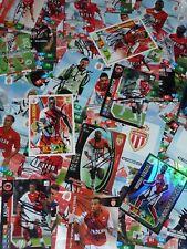 Cartes Adrenalyn AS MONACO FC asm signées signed JOUEURS 2009 à 2020 ultras foot
