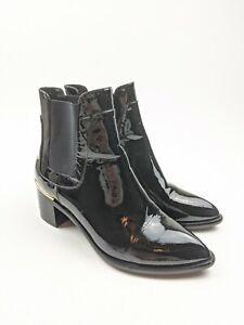Louis Vuitton Patent Leather Chelsea Boots Booties Sz 37 EU 6.5 US