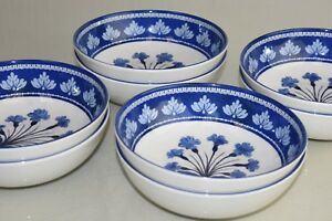 NEW Williams Sonoma 8 PC or 4 AERIN Fairfield Melamine Bowls Blue White Flowers