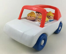 Little Tikes Toddle Tots Family Car Chunky Figures Toddler Toys 5pc Lot Vintage