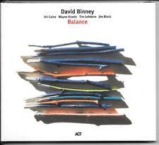 CD David Binney `Balance` Neu/New/OVP Jazz Digipak ACT