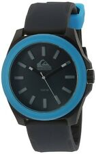 Quiksilver Men's QS/1015BKBL THE FADER Blue Accented Black Silicone Strap Watch