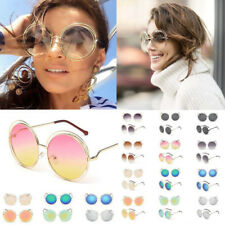 Retro Big Oversized Round Sunglasses Fashion Women Large Size Mirror Sun Glasses
