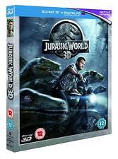 Jurassic World 3D [Blu-ray Region Free + Digital, Dinosaurs, Pratt, Howard] NEW