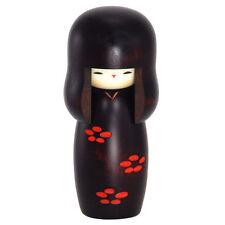 "Japanese Usaburo 4.75"" Kokeshi Shunsai Ume Kimono Girl Wooden Doll Made in Japan"