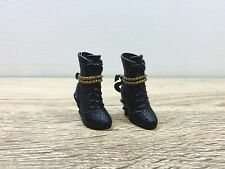 Monster High Doll Shoes Boots Heels Black Gold Fashion Accessories Mattel