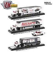 AUTO HAULERS RELEASE 22 3 TRUCKS SET 1/64 DIECAST MODELS BY M2 MACHINES 36000-22