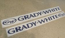 "Grady White Vintage Boat Decal 24"" Navy Blue 2-PAK FREE SHIP + FREE Fish Decal"