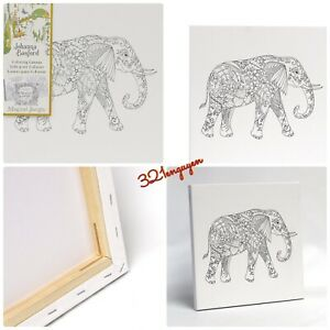 "Johanna Basford 12"" X 12"" Magical Jungle Coloring Canvas - Elephant"