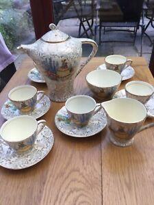 EXQUISITE VINTAGE EMPIRE WARE CRINOLINE LADY TEA/ COFFEE SET