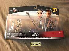 Disney Infinity 3.0 Star Wars Force Awakens Play Set Finn Rey + Bonus Power Disc