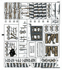 LEGO Stickers Sheet 9473 Lord of the Rings Hobbit wood log book arrow rune wall+