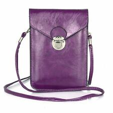 Universal Leather Crossbody Phone Shoulder Bag Pouch Purse Wallet Case Cover