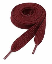 """Thick Flat 3/4"""" Wide Shoelaces Solid Color for All Shoe Types"""
