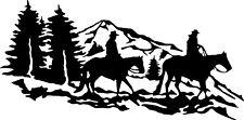 "Horse Riding Scene Vinyl Graphics Car Decals Stickers (20"" x 10"")"