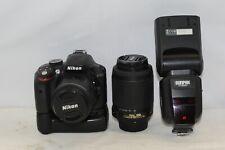 Nikon D3300 Digital SLR Camera With 18-55 & 55-200 Lenses Pre Owned