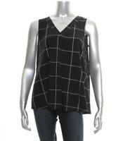 New Women's Alfani Color blocked V-Neck Top Size Small