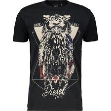 Diesel T-OWLY Printed T-Shirt Negro BNWT