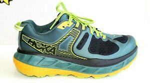 HOKA ONE ONE Mens Stinson ATR 5 Trail Running Shoes Green Blk Yllw, US Size 8